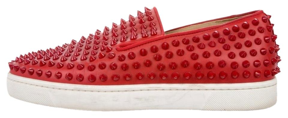 quality design dc22b 6cf99 Christian Louboutin Red Roller-boat Men's Slip On Sneakers Size EU 43  (Approx. US 13) Regular (M, B) 57% off retail