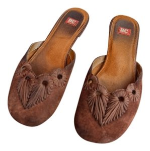 BC Footwear Brown Mules