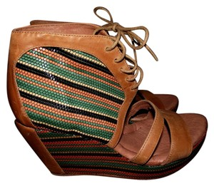80%20 Heels Pumps Stiletto Womens Summer Multi Color Weaved Quilted Straw Laced Up Laces Faux Leather Green Yellow Orange Blue Brown Wedges