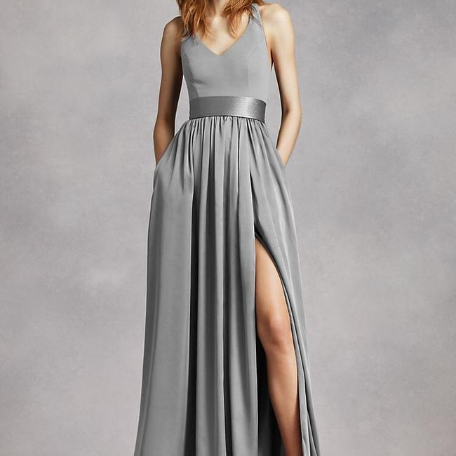 Item - Light Grey Used Once From Current Collection Modern Bridesmaid/Mob Dress Size 4 (S)