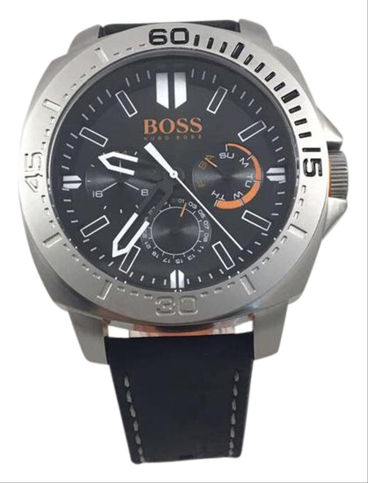 Hugo Boss Balck Orange Steel 1513298 Sao Paulo Leather Quartz Men S Wrist Watch