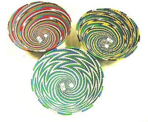 Assorted Telephone Wire Bowl 6.5 Inch Diam Decoration