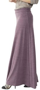 Alternative Apparel Casual Comfortable Flowy Rare Sold Out Maxi Skirt heathered purple