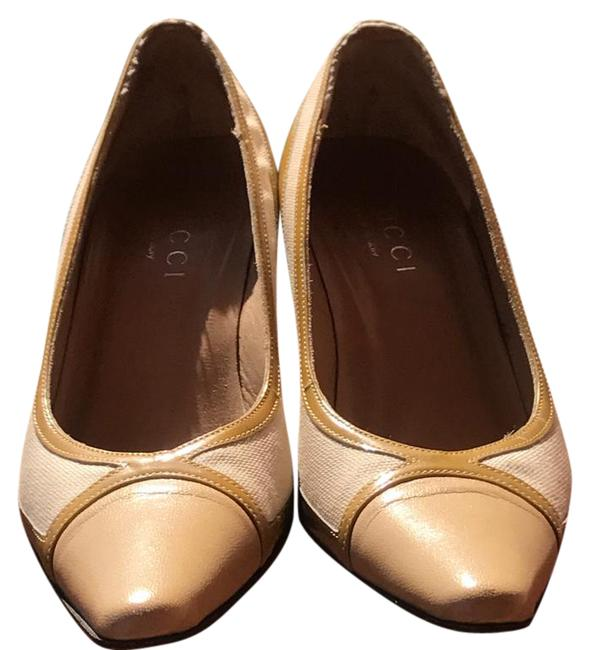 Item - Beige; Tan Pale Yellow Ombe Duel Color Low Pumps Size US 6 Narrow (Aa, N)