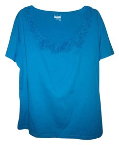 Basic Editions Top Teal Blue