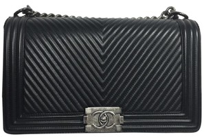 Chanel Chevron Leboy Shoulder Bag