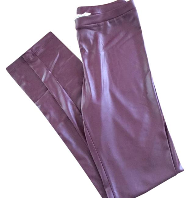 Item - Dark Red Faux Leather Leggings Size 4 (S, 27)