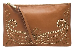 Michael Kors Studded Leather Luggage Clutch