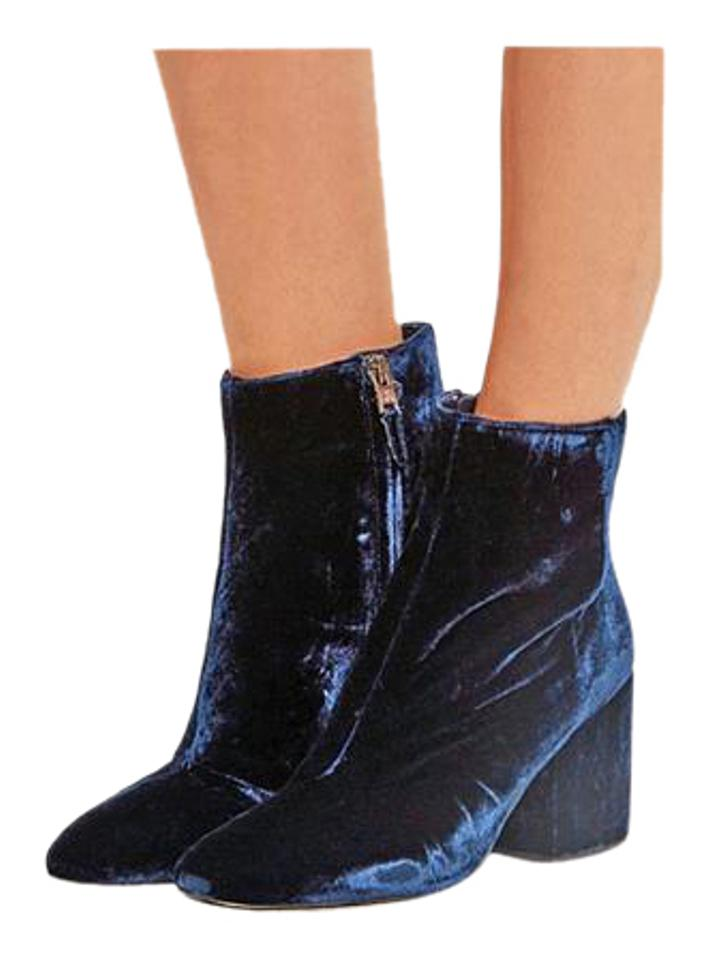 Sam Edelman Navy - Taye Velvet Ankle Ankle Ankle Limited Edition Boots/Booties 682599