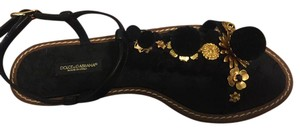 Dolce&Gabbana Black/Gold Sandals
