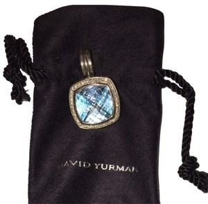 David Yurman David yurman Albion Pendant With Blue Topaz And Diamonds - 14mm