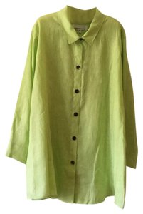 b27d4652eed Caroline Rose Button Down Shirt Lime