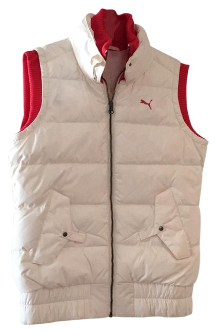 Item - White and Red Puffer Ski Vest Size 2 (XS)