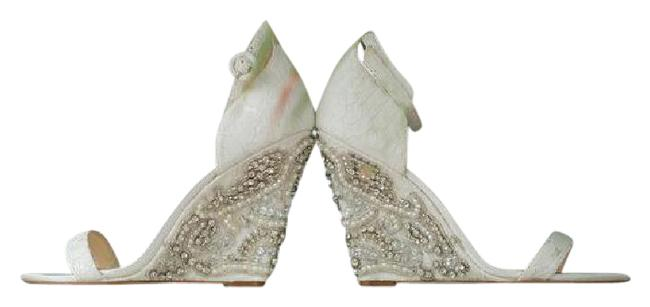 Item - Ivory Blue By The Alisa Sandals Wedges Size US 7.5 Regular (M, B)