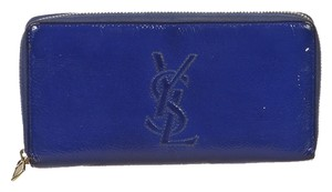 Yves Saint Laurent Yves Saint Laurent Blue Patent Leather Belle De Jour Wallet