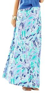 Lilly Pulitzer Nola Nice Ink Maxi Skirt Blue Purple