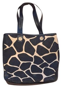 Black And Beige Beach Bag