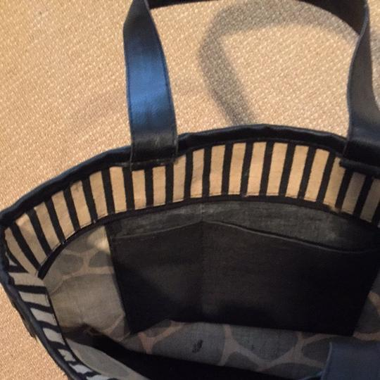 Other Black And Beige Beach Bag