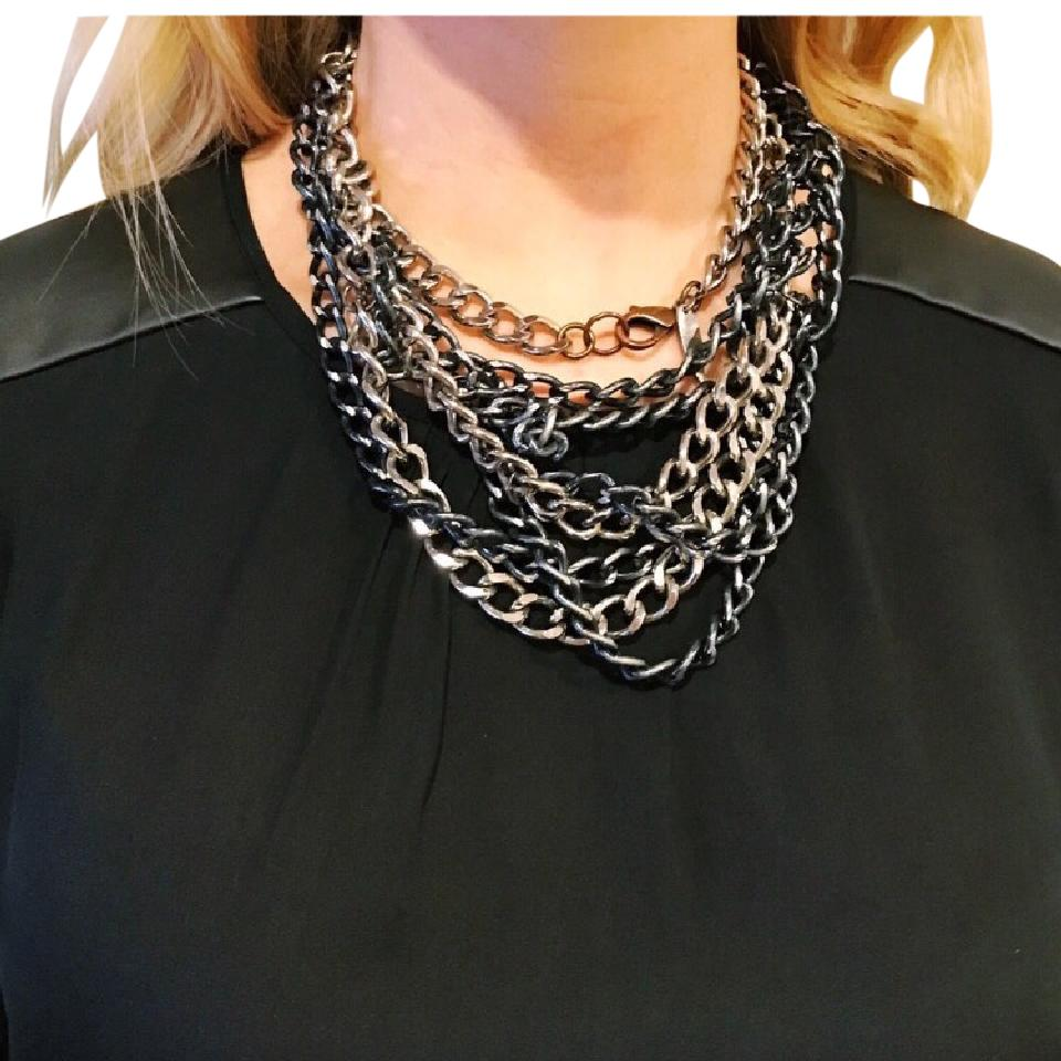 metal shopperboard necklace asymmetrical product