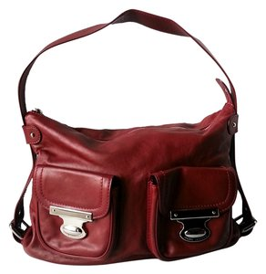 Marc Jacobs Medium Quinn Hobo Red Silver Hardware Lampo Zipper Suede Interior Slouchy Shoulder Bag