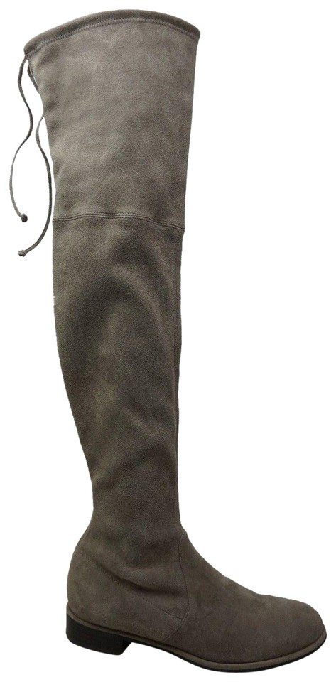 f5104b14541 Stuart Weitzman Topo Grey Lowland Over The Knee Suede Boots Booties ...