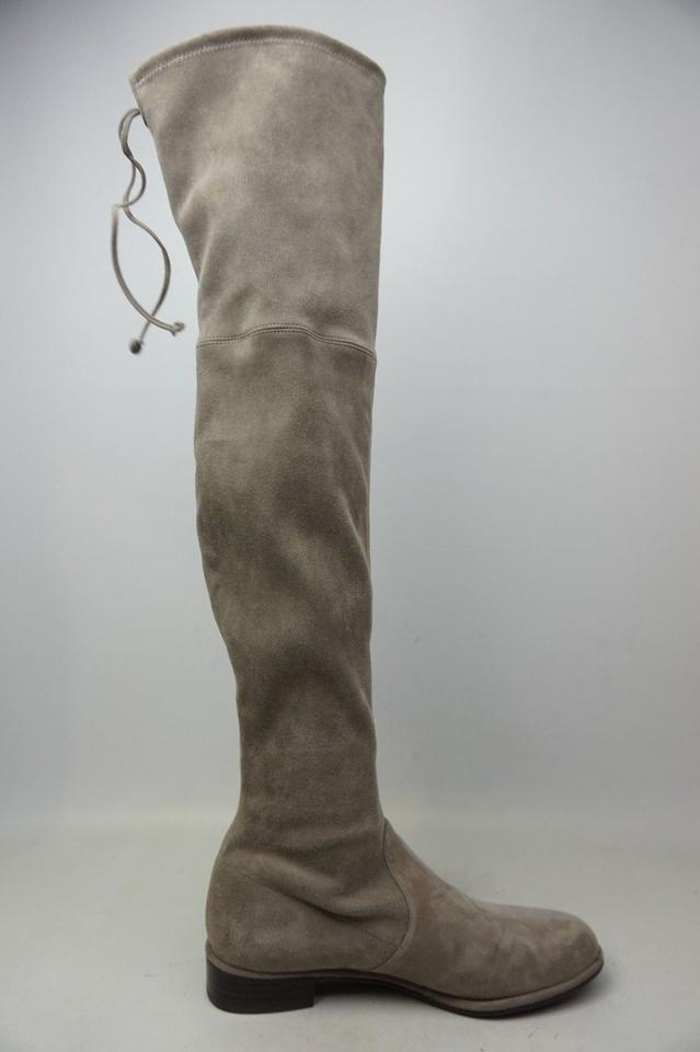 0d1698ca3c9 Stuart Weitzman Topo Grey Lowland Over The Knee Suede Boots Booties ...