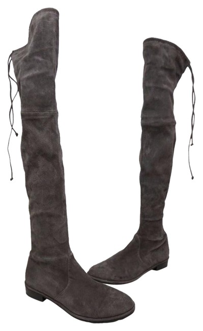 Item - Londra Grey Lowland Over The Knee Suede Boots/Booties Size US 8 Regular (M, B)