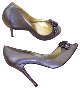 Luciano Padovan Pewter Pumps