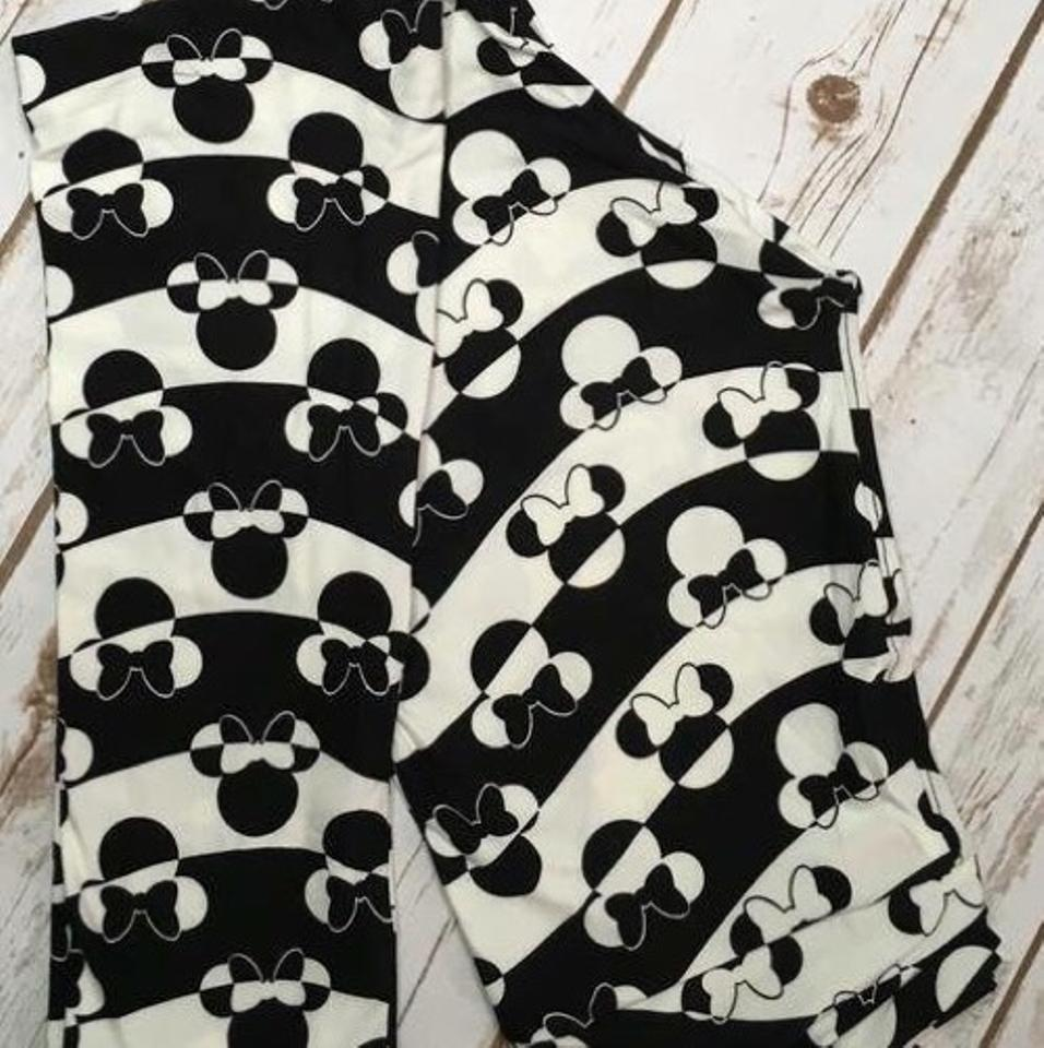 d886d17bb5597d LuLaRoe Black & White New Minnie Mouse Rare Leggings Size OS (one ...