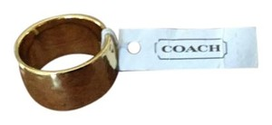 Coach Coach hammered gold ring