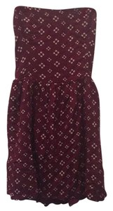 15b52be82a03 Abercrombie   Fitch short dress Burgundy Floral on Tradesy