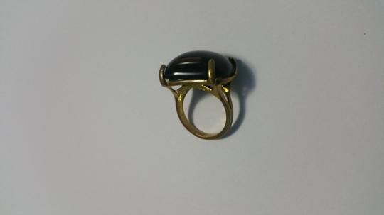 Other Black quartz , in gold plated brass ring Image 3