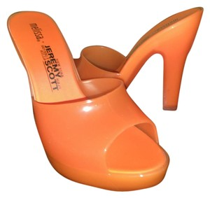 Melissa Orange clear Mules