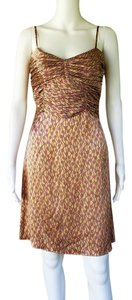 Tocca Silk Charmeuse Floral Ruched Dress