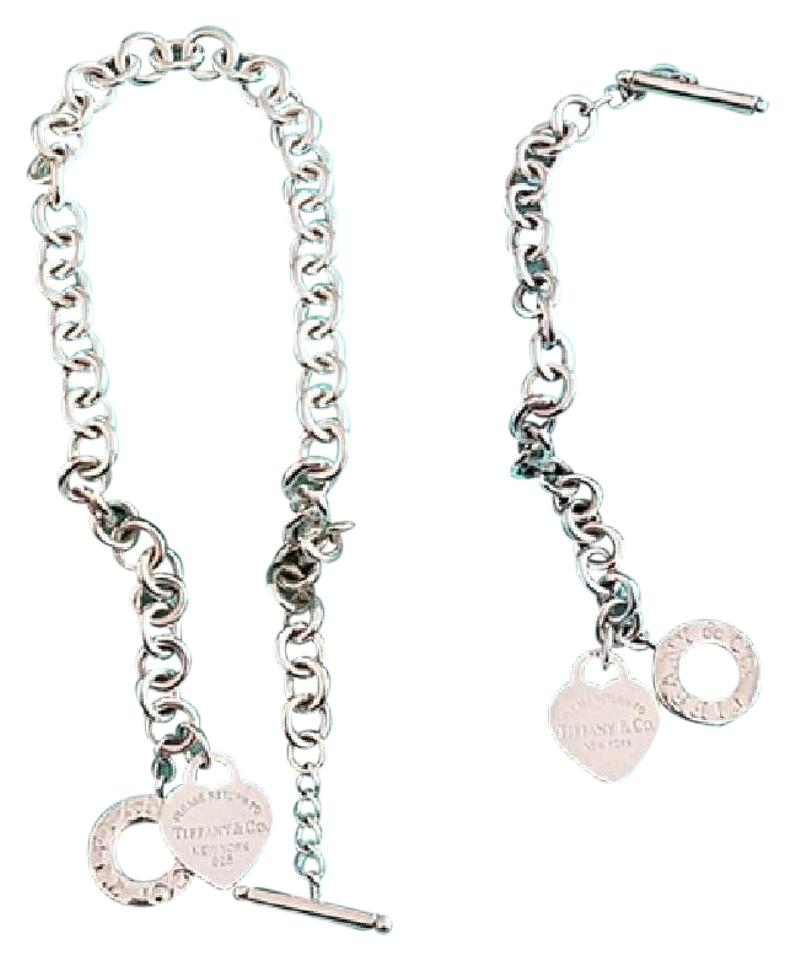 Please Tiffany Co Heart Tag Toggle Necklace Bracelet Set