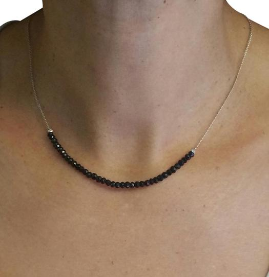 Preload https://img-static.tradesy.com/item/21744724/black-silver-spnel-faceted-beads-with-sterling-chain-necklace-0-1-540-540.jpg