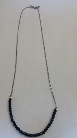 Adelaide Maria Black spnel faceted beads with sterling silver chain Image 2