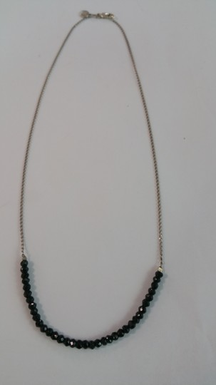 Adelaide Maria Black spnel faceted beads with sterling silver chain Image 3