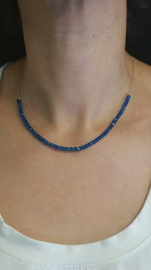 Adelaide Maria Apatite faceted beads in sterling siver chain, yellow gold plated Image 1