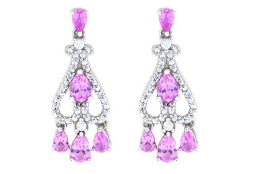 Preload https://img-static.tradesy.com/item/21744824/pink-and-white-sapphire-pear-dangle-stud-925-sterling-silver-earrings-0-0-540-540.jpg