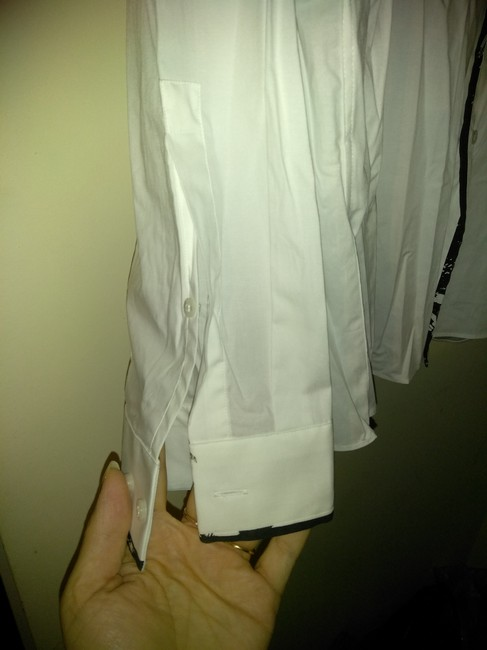Hugo Boss Button Down Shirt White black Image 2