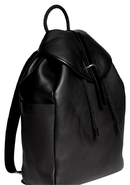 Item - Skull Perforated Black Leather Backpack