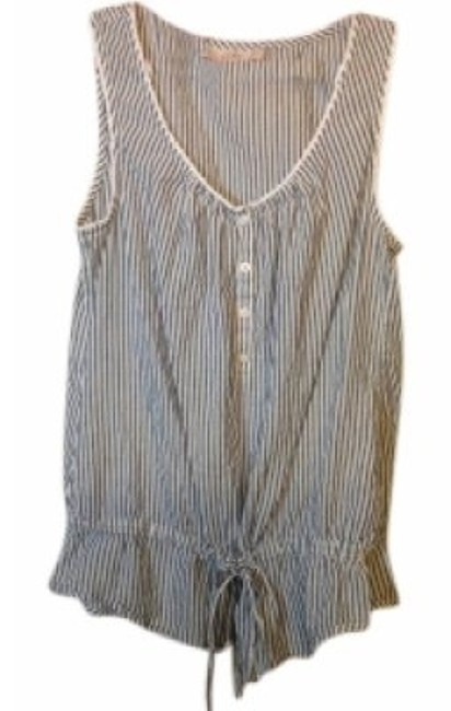 Preload https://item1.tradesy.com/images/ann-taylor-loft-bluewhite-stripe-cotton-tunic-size-8-m-21745-0-0.jpg?width=400&height=650