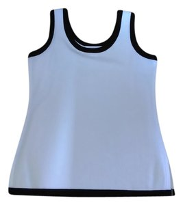 Misook Top White with Black Trim
