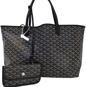 Goyard Gm Canvas Saint Louis Tote in Black