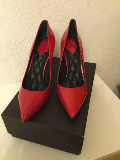 Brian Atwood Patent Leather Red Pumps Image 1