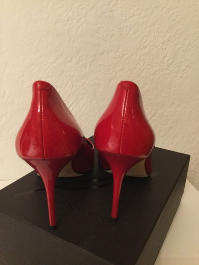 Brian Atwood Patent Leather Red Pumps Image 2