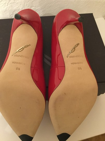 Brian Atwood Patent Leather Red Pumps Image 3