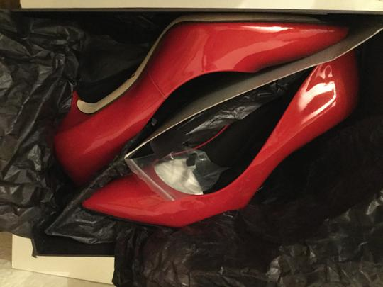 Brian Atwood Patent Leather Red Pumps Image 4