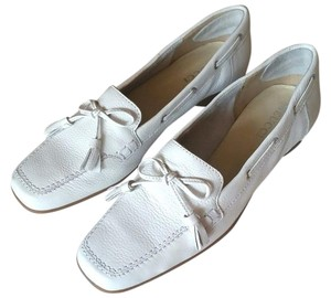 Sesto Meucci Loafers Driving Tassel Leather white Flats